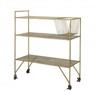 Bloomingville Servierwagen KATARINA Gold Metall Tisch Beistelltisch Geschirr