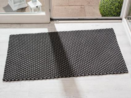 Pad In/ Outdoor Matte POOL Grau Schwarz 72x132 Fussmatte Badezimmermatte Teppich