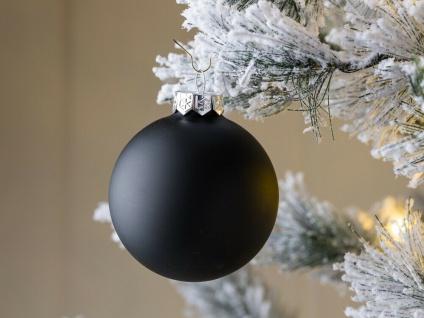 Weihnachtskugel LINDA schwarz mattiert Weihnachtsdeko Tannenbaumschmuck Weihnach