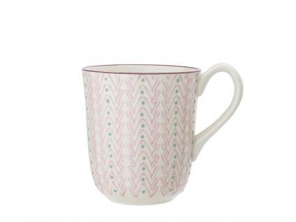 Bloomingville Becher MAYA rosa Keramik Geschirr Tasse 360 ml Kaffeebecher