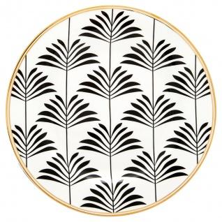 Greengate Teller Gate Noir MAXIME Schwarz 20 cm Porzellan Geschirr Kuchenteller