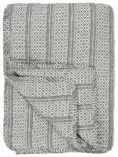 IB Laursen QUILT Serafina Schwarz Decke Tagesdecke Bettüberwurf 130x180 cm