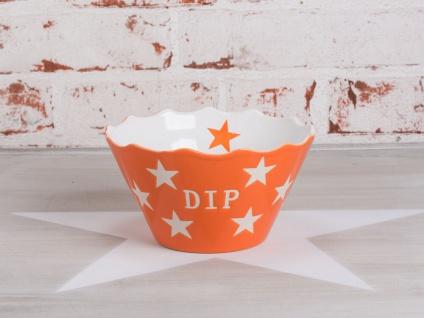 Krasilnikoff Dip Schale Sterne orange Keramik Schüssel