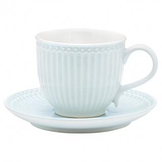 Greengate Tasse mit Untertasse ALICE Blau Kaffeebecher Everyday PALE BLUE