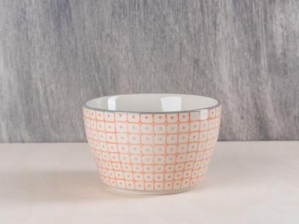 Bloomingville Carla Müslischale orange creme Schale Schüssel Keramik Geschirr
