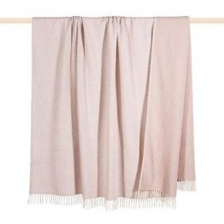 Pad Decke Madison rosa Wohndecke Kuscheldecke Wolldecke dusty pink mit Fransen