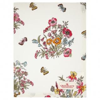 Greengate Geschirrtuch MYRA Weiß Blumen Schmetterlinge Baumwolle 50x70 Küchentuch