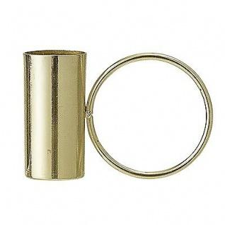 Bloomingville Kerzenhalter gold mit Ring Kerzenständer rund f. 1 Kerze 5 cm hoch