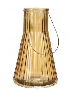 Affari Windlicht Laterne ANJA Orange 38 cm Glas Deko Gartenlaterne Tischdeko