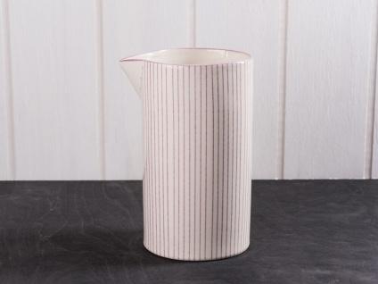IB Laursen Kanne CASABLANCA Lila weiß 1 Liter Streifen Keramik Geschirr Saftkrug