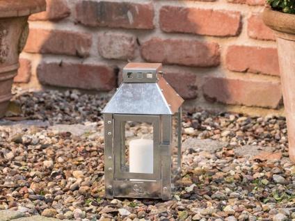 A2 Living Allwetter Laterne Micro verzinkt 25 cm Metall Outdoor wetterfest rostf