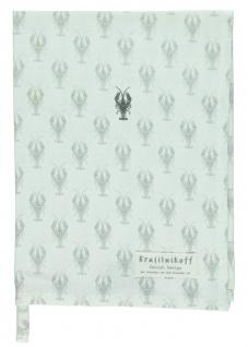 Krasilnikoff Geschirrtuch LOBSTER Weiß Baumwolle 50x70 Geschirrhandtuch