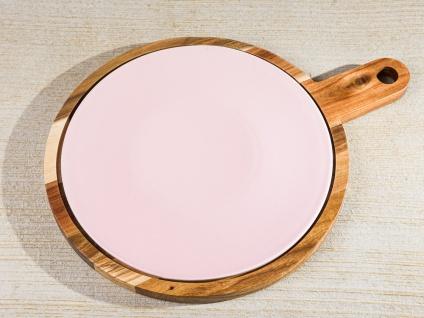 Bloomingville Schneidebrett ALBERTE Holz Keramik Rosa Untersetzer Tapasbrett