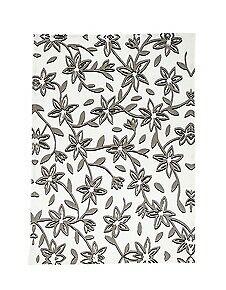 Bloomingville Geschirrtuch HANNAH weiß grau Blumen Geschirrhandtuch