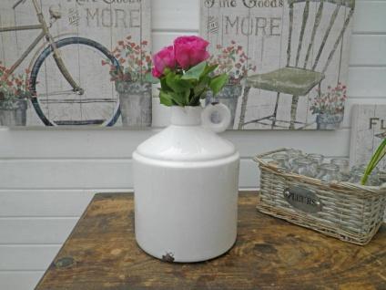 Vase GUSTAVSON Weiß Keramik Blumenvase 22 cm Kerzenhalter Flaschen Form