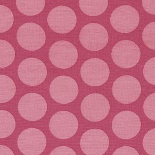 AU Maison Wachstuch Super Dots Raspberry Peachy Pink Meterware Tischdecke 140 cm