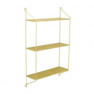 Bloomingville Regal LAYLA Gold Metall Wandregal 3 Böden 45x70 cm T 13 cm