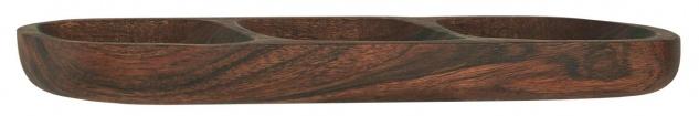 IB Laursen Tapasbrett mit 3 Fächern Akazienholz Tapas Schale 30 cm