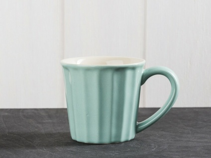 IB Laursen MYNTE Becher Grün GREEN TEA Tasse Keramik hellgrün beige 250 ml