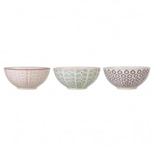 Bloomingville Schale MAYA 3er Set Keramik Schüssel 650 ml Geschirr Müslischale