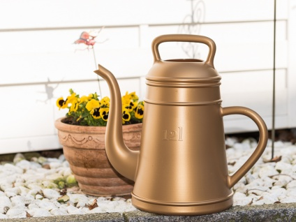Gießkanne LUNGO Gold 12 Liter Kunststoff XALA Design Kaffekanne Kaffepott