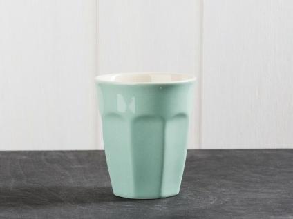 IB Laursen MYNTE Cafe Latte Becher Grün Keramik Geschirr GREEN TEA Tasse 250 ml
