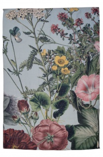 AU Maison Outdoor Teppich MEADOW Mint Grün Blumen 70x140 Kunstfaser waschbar