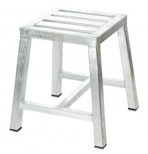 A2 Living Allwetter Garten Hocker verzinkt Gartenstuhl Gartenmöbel Metall Stuhl