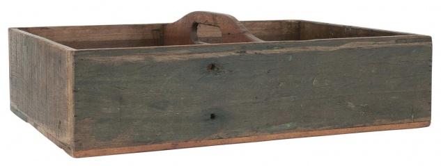 IB Laursen Kiste UNIKA mit 4 Fächern und Henkel 35x50 cm Aufbewahrung Box