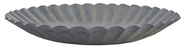IB Laursen Kerzentablett 16 cm Kerzenständer Grau Kerzenhalter Metall Rund