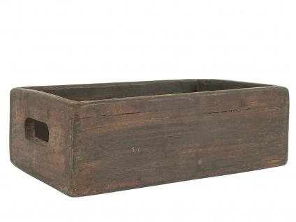 IB Laursen HOLZKISTE mit Griffen UNIKA Kiste 30cm Aufbewahrungskiste Ordnungsbox