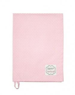 Krasilnikoff Geschirrtuch MICRO PUNKTE Rosa Geschirrhandtuch Dots Pink Weiss