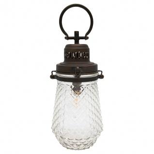 Greengate Lampe CROSS mit Henkel Hängelampe Batteriebetrieb 15x33 cm Metall/Glas