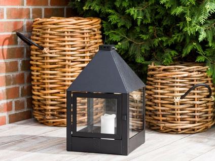 A2 Living Allwetter Laterne Mega Quadro Schwarz rostfrei wetterfest 52 cm Metall