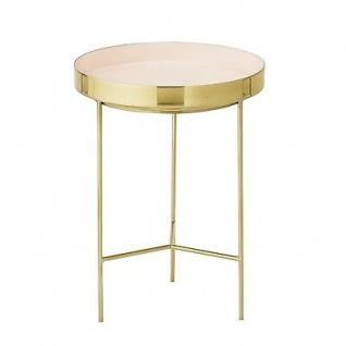 Bloomingville Beistelltisch gold rosa Aluminium Tisch 30 cm Höhe 40 cm Metall