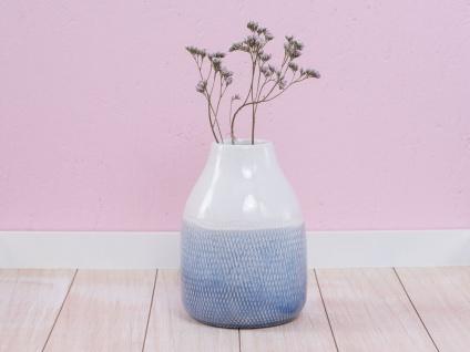 A Simple Mess Vase SVALE Blau Weiß Keramik Blumenvase 18 cm Skandinavische Deko