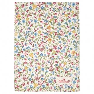 Greengate Geschirrtuch SOPHIA Weiß Blumen Baumwolle 50x70 Küchentuch
