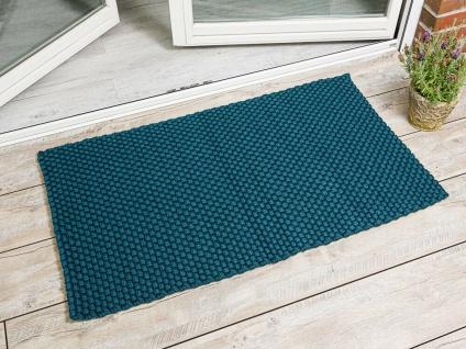 PAD Outdoor Teppich UNI PETROL 72x132 Matte Fussmatte Pad Concept Badematte Blau