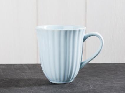 IB Laursen MYNTE Becher Rillen Blau STILLWATER Keramik Geschirr Tasse 250 ml