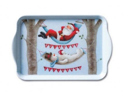 Ambiente Tablett RELAXING CHRISTMAS Melamin Serviertablett WEIHNACHTEN 13x21