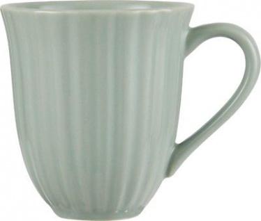 IB Laursen Becher mit Rillen hellgrün Mynte Geschirr Green Tea Tasse Keramik