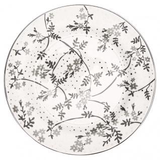Greengate Teller AMIRA Weiß Grau 20 cm Porzellan Geschirr Kuchenteller