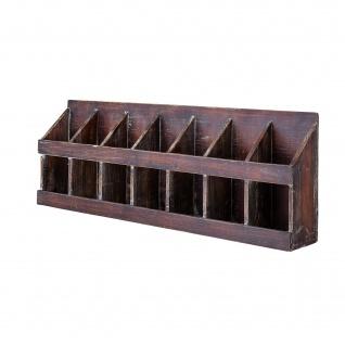 Bloomingville Wandregal Aufbewahrungsbox 7 Fächer Regal Holz 26x74 cm Querformat