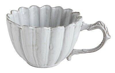 Bloomingville Tasse CHATEAU mit Henkel Keramik Becher Muschel Look