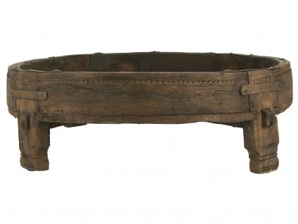 IB Laursen Tisch UNIKA Holz Rund Gewürztisch Unikat 70 cm Beistelltisch Schwer