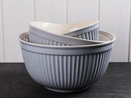 IB Laursen MYNTE Schalensatz Grau 3er Set Keramik Schüsseln FRENCH GREY Geschirr