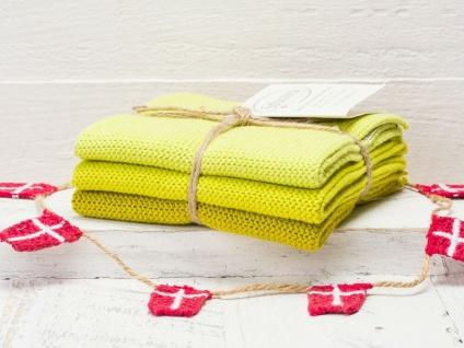 Solwang Wischtuch ZITRONELLE KOMBI gestrickt 3er Set Küchentuch Spültuch Putzen