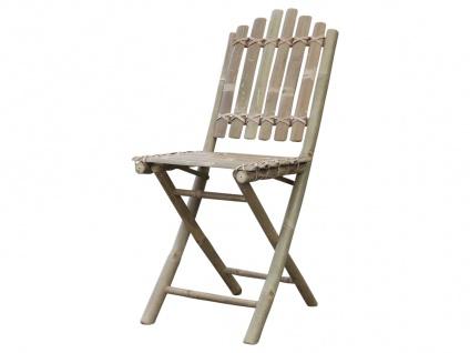 Chic Antique Stuhl LYON Bambus Klappstuhl Gartenstuhl klappbar Balkonstuhl
