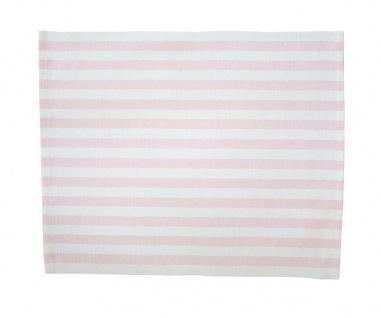 Krasilnikoff Tischset STREIFEN Rosa Baumwolle weiß pink gestreift Platzset - Vorschau