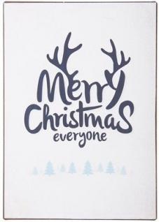 "IB Laursen Metallschild Merry Christmas Everyone"" Weihnachten Dekoschild Blechs"""